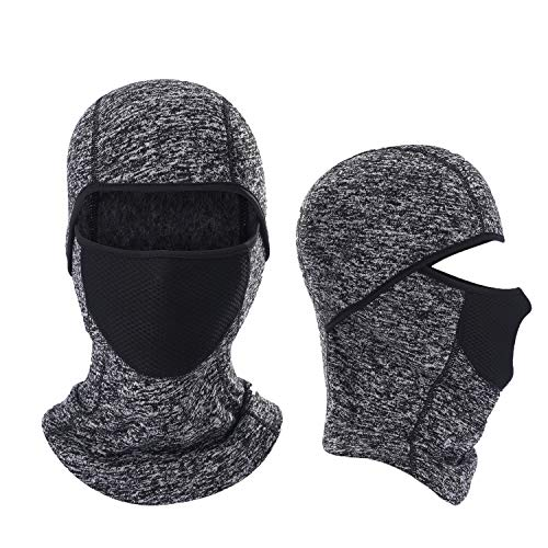 Windproof and Warmer Fleece Cold Weather Face Mask Perfect Performance in Winter for Skiing Snowboarding Motorcycling ()