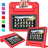 AVAWO Kids Case for Amazon Kindle Fire 7 2019, Kids Shockproof Convertible Handle Light Weight Stand Protective Case for All New Fire 7 Tablet (9th generation, 2019 release), Red