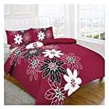 MA Online Luxurious Patch Floral Keep Calm Print Quilt Cover Pillow Case Single Double King Bedding Cover Set Lynda Floral Red Super King