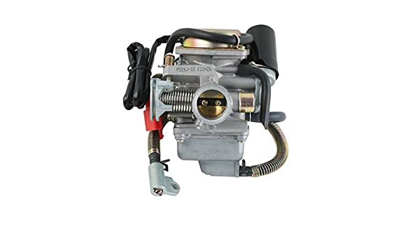 Amazon com: XMT-MOTO 24mm ATV Carburetor 125cc 150cc GY6 For
