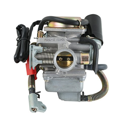 Wahoo Atv Parts - XMT-MOTO 24mm ATV Carburetor 125cc 150cc GY6 For Kazuma Redcat Scooters Mopeds Go Karts