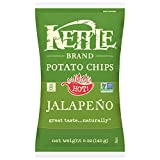 Kettle Brand Potato Chips, Jalapeno, 5 Ounce Bags (Pack of 8)