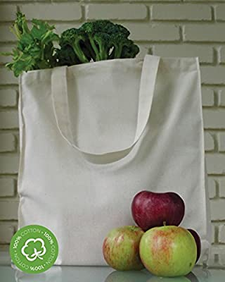Green Earth Bags Reusable Cotton Canvas Grocery Tote Bag