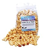 popcorn and peanuts - Amish Good Premium Caramel Popcorn With Peanuts Hand Stirred in Copper Kettle Real Butter and Coconut Oil Makes Better Caramel Corn! (12 oz Bag)