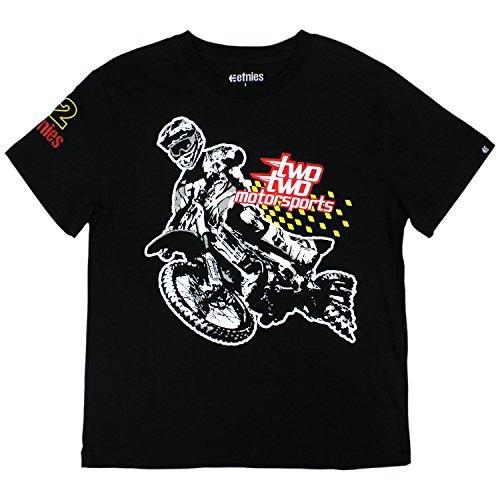 Etnies Skateboard T-Shirt Rogue Rider Youth Kids S/S TEE Black Size L - Etnies Kids T-shirt
