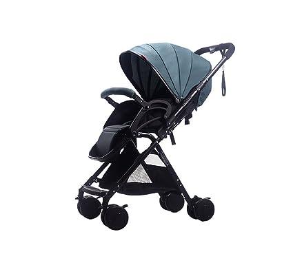 XnZLXS-Cochecitos Paisaje Alto Carrito para bebés Ultraligero Plegable Paraguas Coche Carro para niños Vehículo