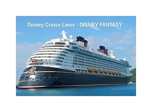 CRUISE SHIP FRIDGE MAGNET - DISNEY CRUISE LINE - DISNEY FANTASY 3½ x 2½ inches Jumbo (Disney Cruise Line Ship)