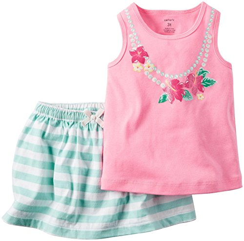 Carter's Baby Girls' 2 Pc Playwear Sets 239g143, Bright Pink, 18 - Carters Skort Set