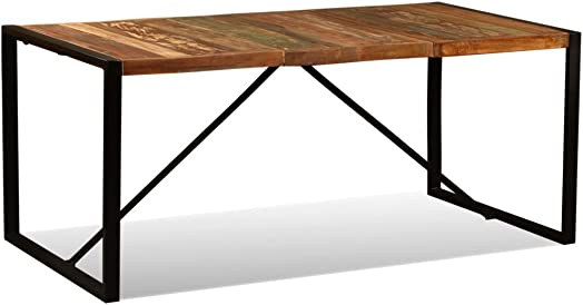 vidaXL Dining Table Solid Reclaimed Wood Vintage 70.9 Kitchen Dining Room