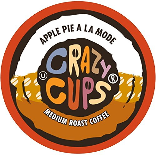 Crazy Cups Flavored Coffee, for the Keurig K Cups 2.0 Brewers, Apple A La Mode, 22 Count