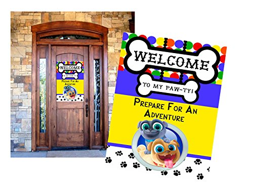Silly Goose Gifts Puppy Themed Party Decoration Invite Game Kit Set Bundle (Welcome Decor)]()