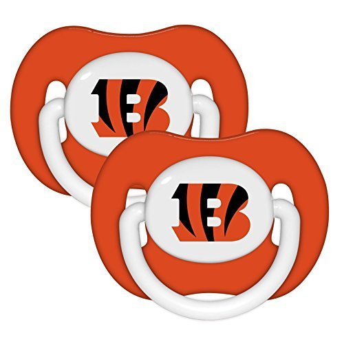 Cincinnati Bengals Baby Clothes - NFL Football 2014 Baby Infant Pacifier 2-Pack - Pick Team (Cincinnati Bengals - Solid)