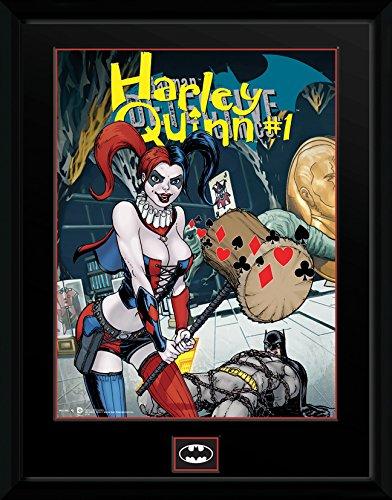 NEW DC Comics Harley Quinn with Hammer Over Batman Art Refrigerator Magnet