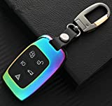 YUWATON Car Key Case Car Key Chains for Range Rover Evoque Discovery 4 Freelander 2 Jaguar Car Remote Control Case Key Decoration. (multi-color)