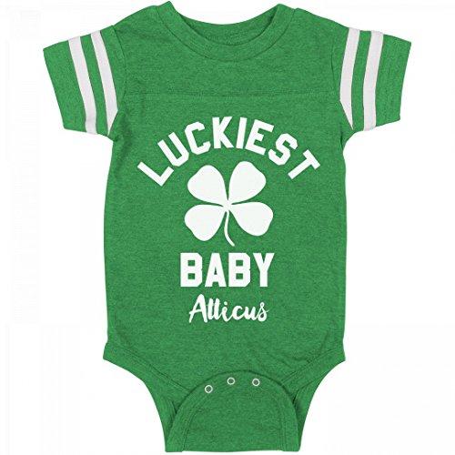 FUNNYSHIRTS.ORG Luckiest ST. Patrick's Baby Atticus: Infant Rabbit Skins Football - Atticus St