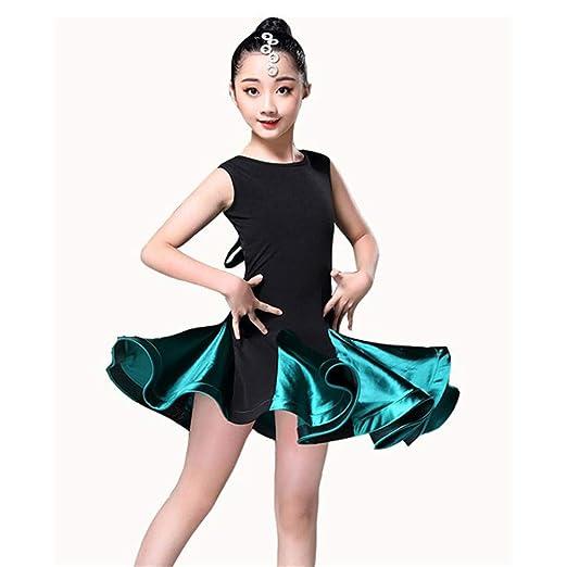 Los niños bailan trajes de vestir Vestido de baile latino Rumba ...