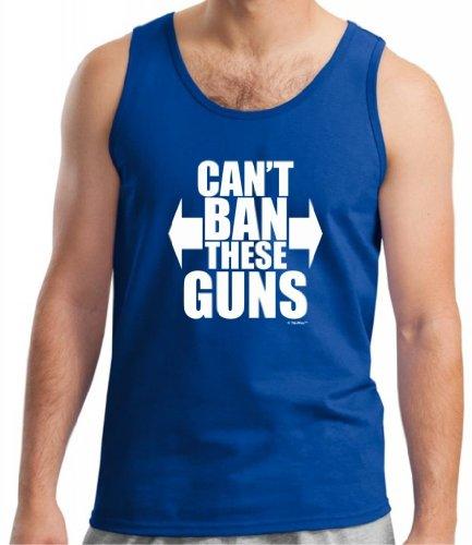 Can't Ban These Guns Tank Top Small Royal