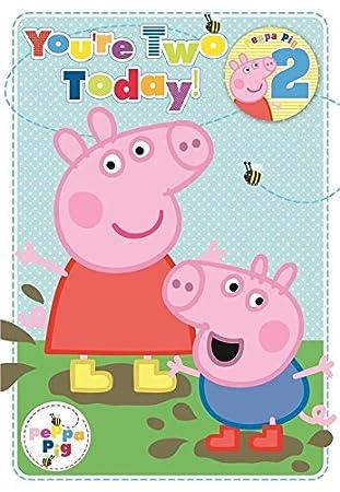 Amazon.com: Peppa Pig 2 nd cumpleaños/Edad 2 tarjeta de ...