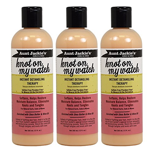Aunt Jackies Knot On My Watch Detangling Therapy 12 Ounce 354ml 3 Pack