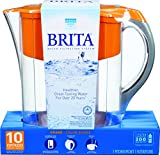 Brita Large 10 Cup Grand Water Pitcher with Filter - BPA Free - Orange