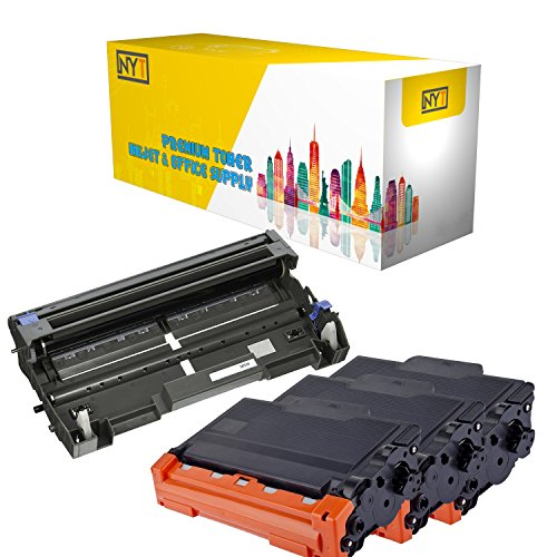 New York Toner New Compatible 4 Pack High Yield Toner & Drum for Brother DR520 TN580 - MFC MultiFunction Printers:MFC-8460N | MFC-8470DN | MFC-8660DN | MFC-8670DN | MFC-8860DN (Brother Dcp 8060 Multifunction Printer)