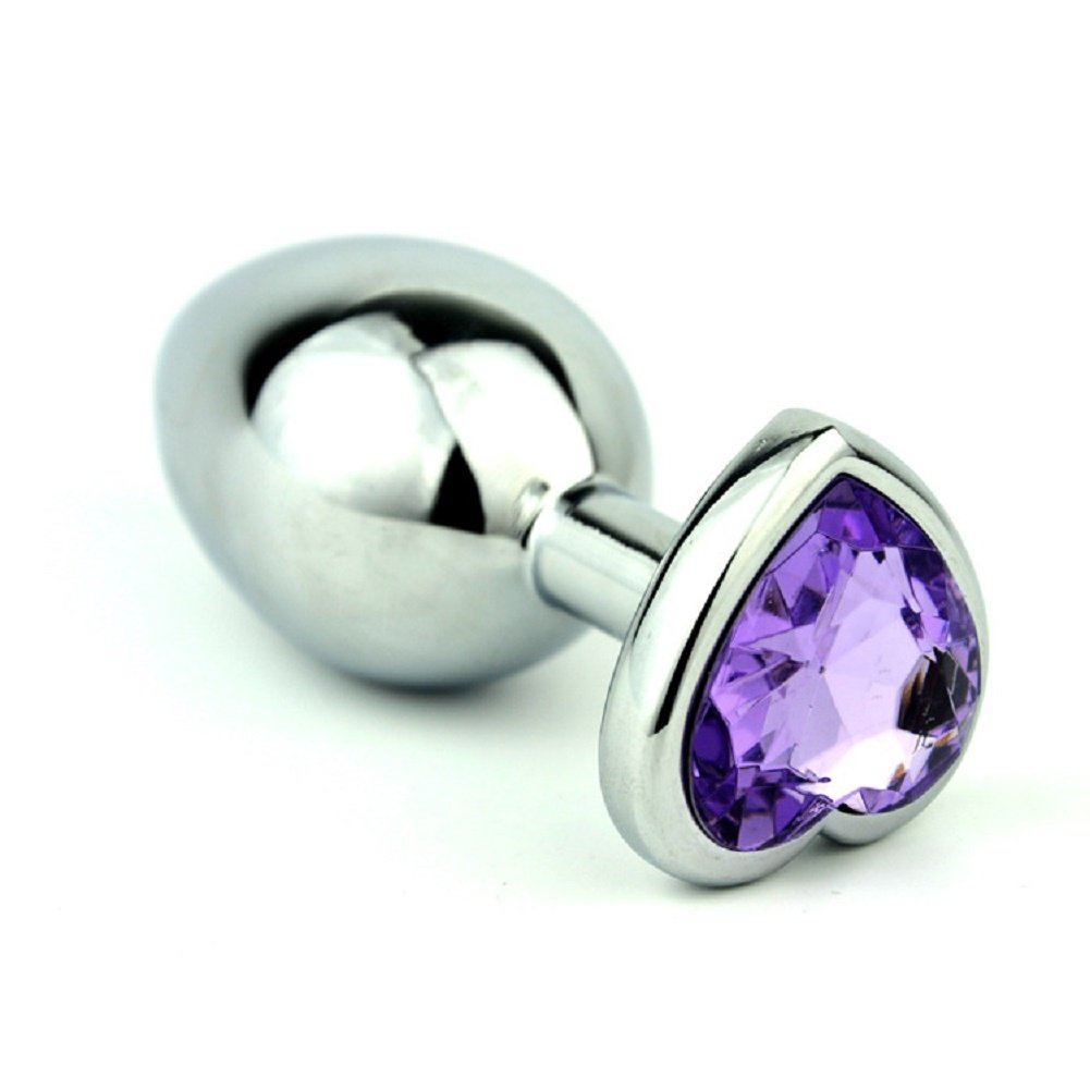 Zhengya piccolo metallbeschichtete Jeweled Principianti ANAL BUTT BUTT BUTT PLUG Stopper inserto Acciaio Inossidabile 2 3b039a