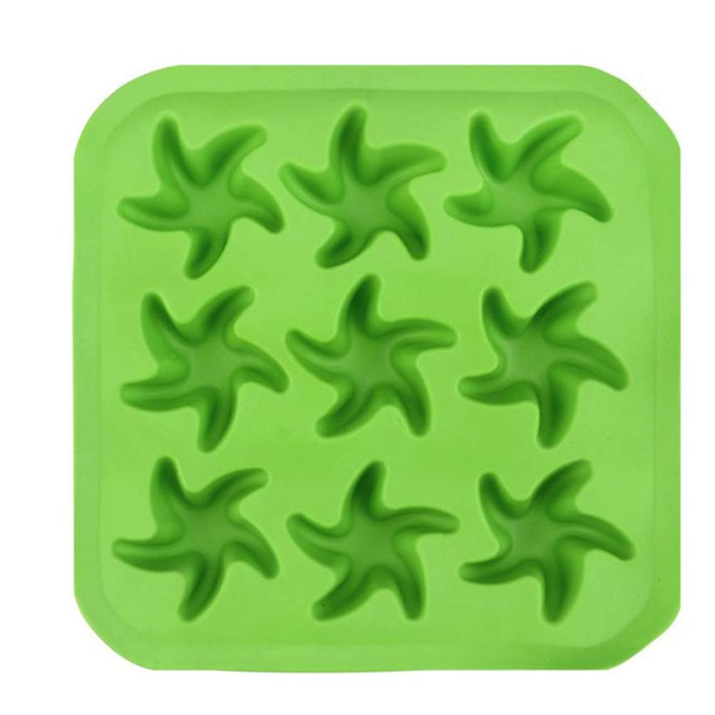 Star Shape Cube Tray Freeze Mould 2Packs Jelly Pudding Chocolate Mold Silicone Colorful Ice Ball Ice Cube Mold
