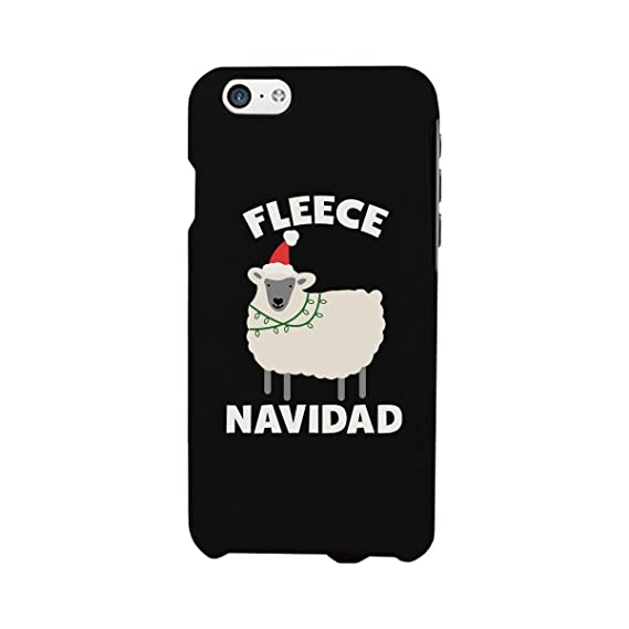 fleece navidad funny christmas phone case for iphone 4 iphone 5 iphone 5c