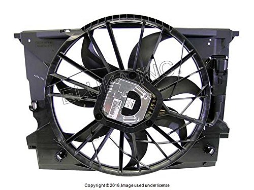 Mercedes-Benz Genuine Radiator Auxiliary Fan Assembly - 600 w CLS500 CLS55 AMG CLS550 E320 E350 E500 E55 AMG E550