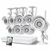Zmodo 1080p 8CH HDMI NVR 1TB HDD – 8 HD WiFi Wireless Weatherproof Security Cameras System with...