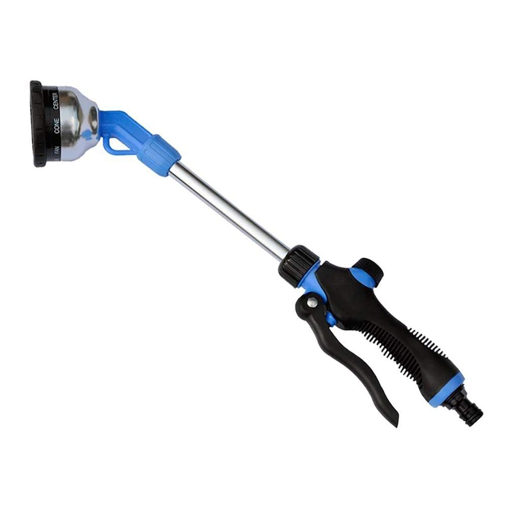 Water Hose Nozzle Sprayer Garden Metal Spray Gun Slip and Shock Resistant for Watering Plants Cleaning Car Wash and Showering Pets Ideal