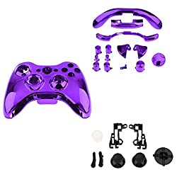 Fenteer Shell Buttonsthumbsticks Replacement Case Cover For Xbox 360 Wireless Gaming Purple