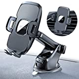 TORRAS Cell Phone Holder for Car Dashboard & Windshield & Air Vent Car Phone Mount with Upgraded Stronger Suction Cup Compatible with iPhone 11 Pro/X Max/XR/XS/X/8 plus/8/7, Galaxy Note 10 plus/S9+/S8
