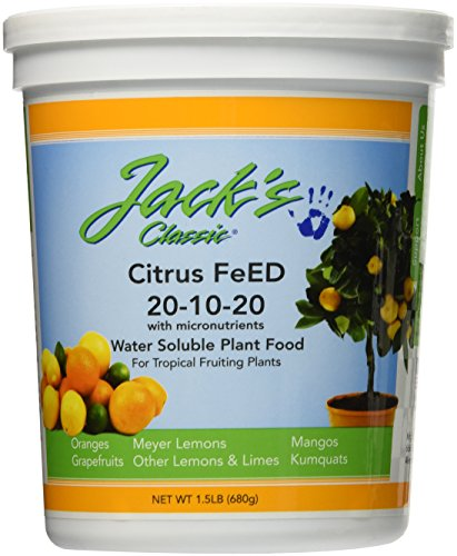 J R Peters Inc 52524 Jacks Classic No.1.5 20-10-20 Citrus Food Fertilizer