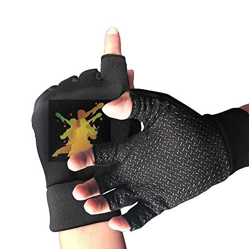 Karen Felix Cycling Gloves Table Tennis Action Men's/Women's Mountain Bike Gloves Half Finger Anti-Slip Motorcycle Gloves