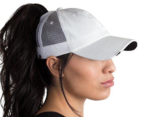 BOEKWEG The Original Fashionable Ponytail Hat. (Distressed White Black  Underbill) - Buy Online in Oman.  7f27645fafa5