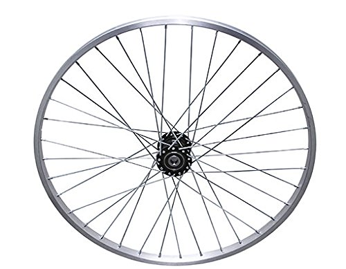 "Lowrider 26"" 36 Spoke Trike Alloy Hollow-Hub F/Left Wheel 12g UCP Bearing 15mm Inner Diameter x 35mm Outer Diameter Silver. Bike Part, Bicycle Part, Bike Accessory, Bicycle Accessory"