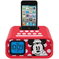 Minnie Mouse Dual Alarm Clock and 30-Pin iPod Speaker Dock, DM-H22