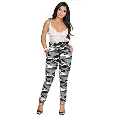 Targogo Moda para Mujer Leggings Finos Pantalones De Elástico ...