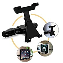 Car Headrest Mount Holder for iPad, iPad Air, iPad Mini, Samsung and 7-10 inch Tablets, 360 Degree Rotation
