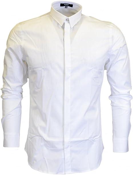 Versace Versus bu20185 León parche camisa de color blanco ...