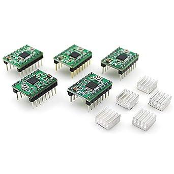 ULTECHNOVO 5 piezas 3D impresora stepper motor driver módulo de ...