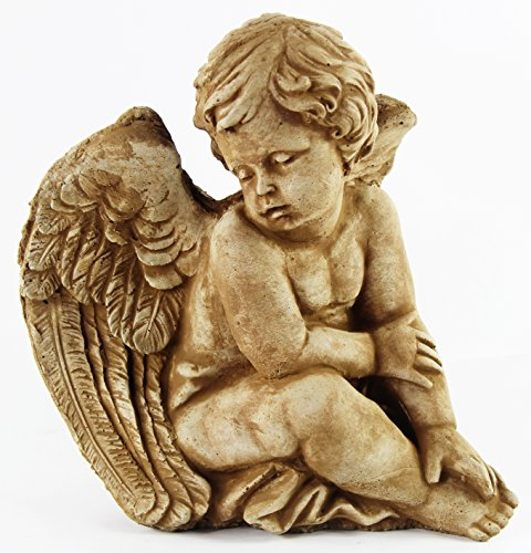 Sitting Angel Ornamental Concrete Garden Statue