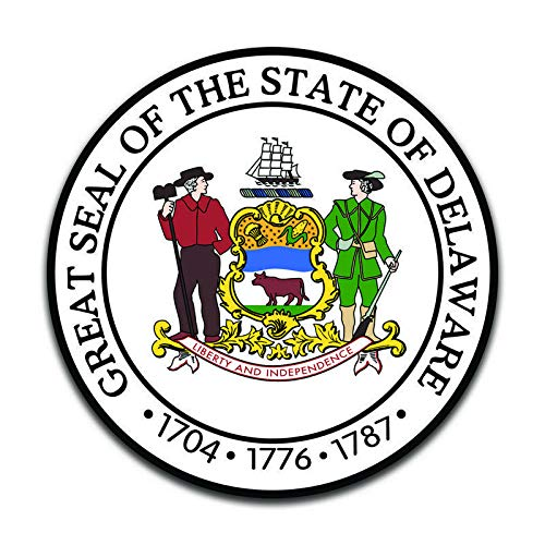 More Shiz Delaware State Seal (2 Pack) Vinyl Decal Sticker - Car Truck Van SUV Window Wall Cup Laptop - Two 5 Inch Decals - MKS0895