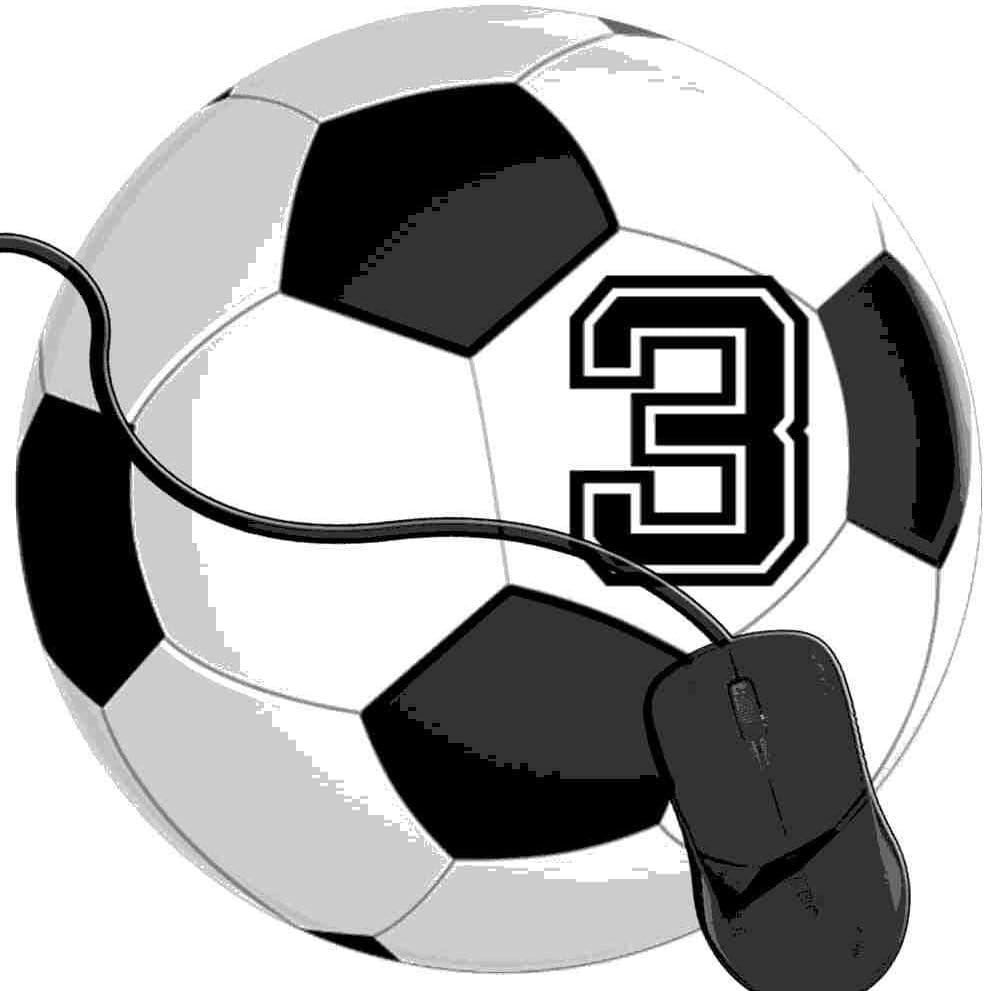 QCFW Alfombrilla de Ratón Jugador de fútbol 3 No 3 Balón de fútbol ...