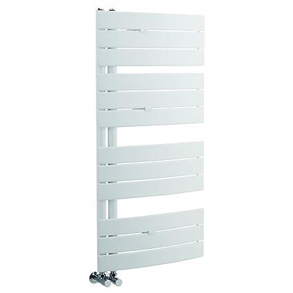 Hudson Reed - Radiador Toallero Decorativo Plano en Acero Blanco Para Baño / Cocina - 1080