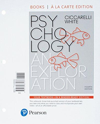 Psychology: An Exploration, Books a la Carte Edition Plus MyLab Psychology with Pearson eText (4th Edition)