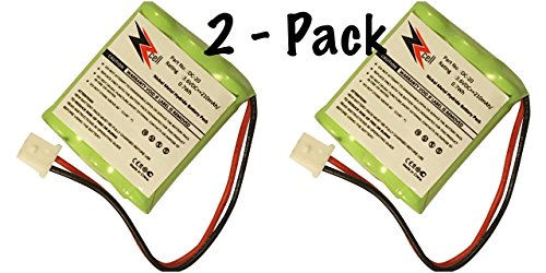 ZZcell 2-Pack (TM) Battery for DOGTRA Dog Collar DC-20, 175NCP, 180NCP, 200NCP, 202NCP Gold - 2, 210NCP, 22000NCP, Receiver 175NCP, 200NCP, 202NCP, 280NCP, 282NCP, 300M, 302M -