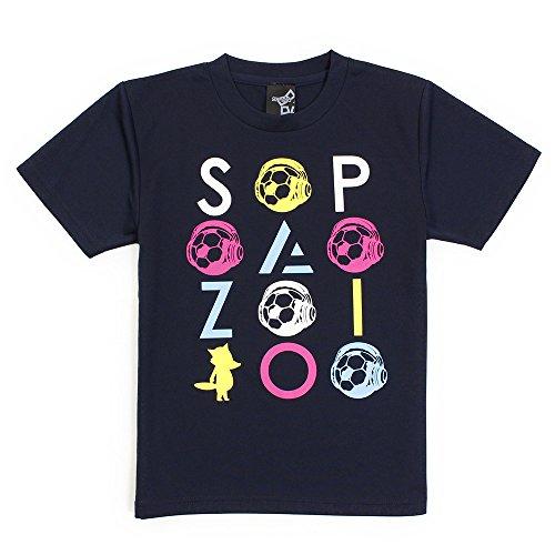 通行人種をまく聴覚ルーボプラクティスTシャツ 21/ネイビー 140