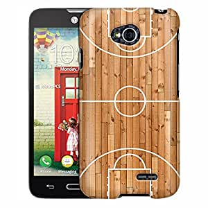 LG Optimus Exceed 2 Case, Slim Fit Snap On Cover by Trek Basketball Court Case